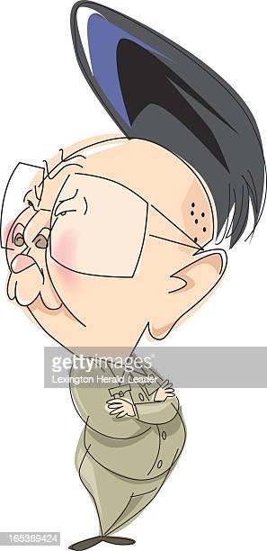 Camille Weber color caricature of North Korean dictator Kim Jongil