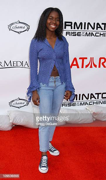 Camille Winbush during T3 Rise Of The Machines Video Game Launch Party at Raleigh Studios in Hollywood California United States