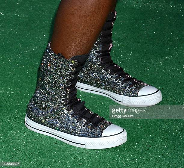 Camille Winbush's shoes during Mr 3000 Premiere Los Angeles at El Capitan in Hollywood California United States