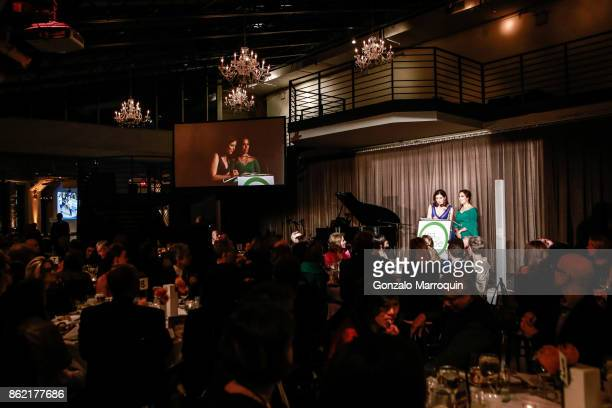 Camille Zamora and Monica Yunus during the Sing for Hope Gala 2017 at Tribeca Rooftop on October 16 2017 in New York City