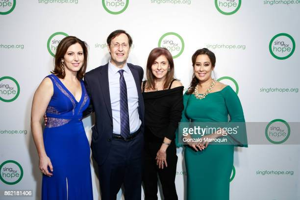 Camille Zamora Jay Petschek Mary Beth Petschek and Monica Yunus during the Sing for Hope Gala 2017 at Tribeca Rooftop on October 16 2017 in New York...