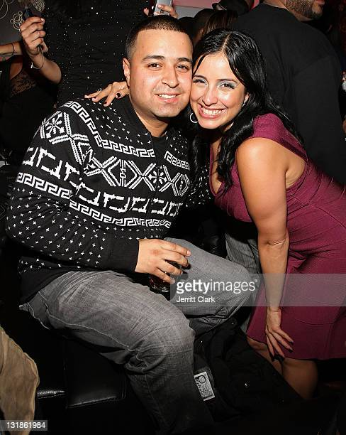 DJ Camillo and Laura Stylez attend the 2010 Hennessy Latin Grammy cocktails unveiling Laura Stylez birthday celebration at CV Lounge on November 2...