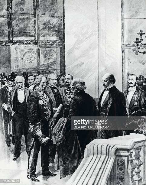 Camillo Benso Count of Cavour Alessandro Manzoni Bettino Ricasoli Terenzio Mamiani Carlo Poerio Manfredo Fanti Gino Capponi Giuseppe Parini and Marco...