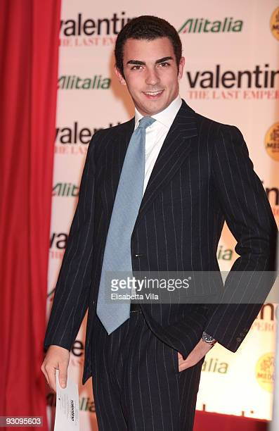 Camillo Caltagirone attends Valentino The Last Emperor premiere at Embassy Cinema on November 16 2009 in Rome Italy