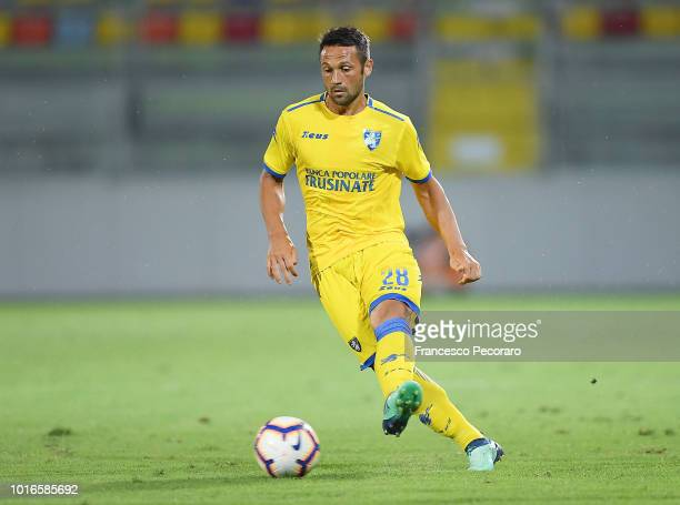 Camillo Ciano of Frosinone Calcio in action during the PreSeason Friendly match between Frosinone Calcio and Real Betis on August 9 2018 in Frosinone...