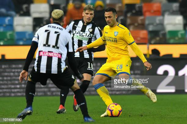 Camillo Ciano of Frosinone Calcio in action during the Serie A match between Udinese and Frosinone Calcio at Stadio Friuli on December 22 2018 in...