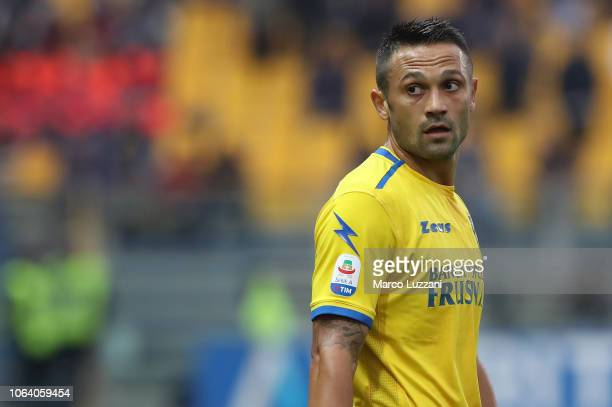 Camillo Ciano of Frosinone Calcio looks on during the Serie A match between Parma Calcio and Frosinone Calcioat Stadio Ennio Tardini on November 4...