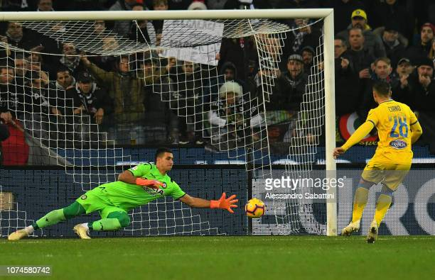 Camillo Ciano of Frosinone Calcio scores the 11 goal during the Serie A match between Udinese and Frosinone Calcio at Stadio Friuli on December 22...