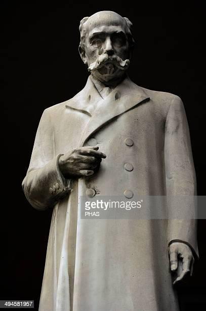 Camillo Golgi Italian physician pathologist scientist and Nobel laureate Statue University of Pavia Italy