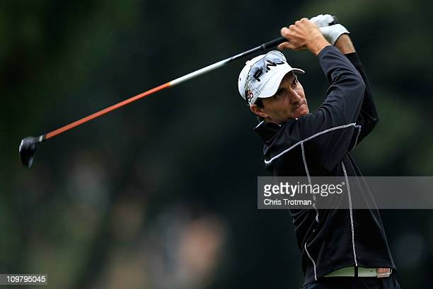 Camilo Benedetti of Colombia tees off the 12th tee during the second round of the Pacific Rubiales Bogota Open Presented by Samsung at Country Club...