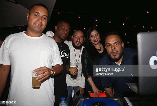 Camilo DJ Nasty guest Laura Stylez and DJ Enuff attend Haute Living Celebrates DJ Khaled And Nicole Khaled Presented By JetSmarter on June 6 2016 in...