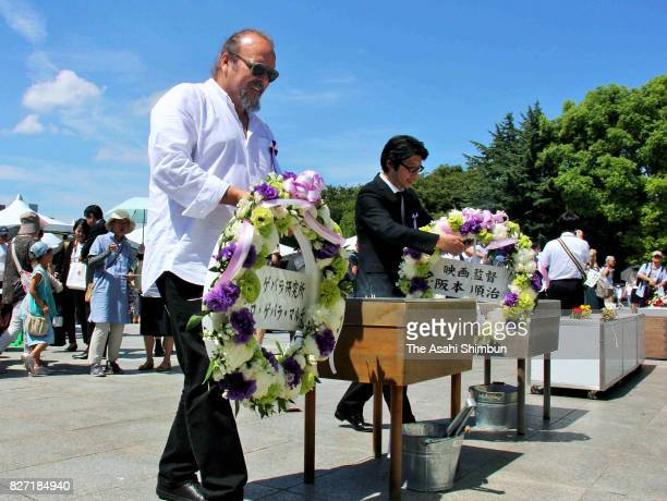 Camilo Guevara son of Che Guevara offers a wreath at the Hiroshima Peace Memorial Park on the 72nd anniversary of the Abomb dropping of Hiroshima on...