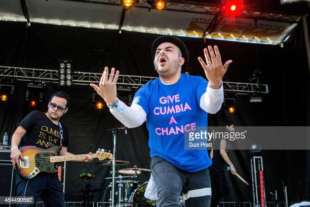 Camilo Lara of Mexico Institute of Sound performs at the Bumbershoot Music and Arts Festival on September 1 2014 in Seattle Washington
