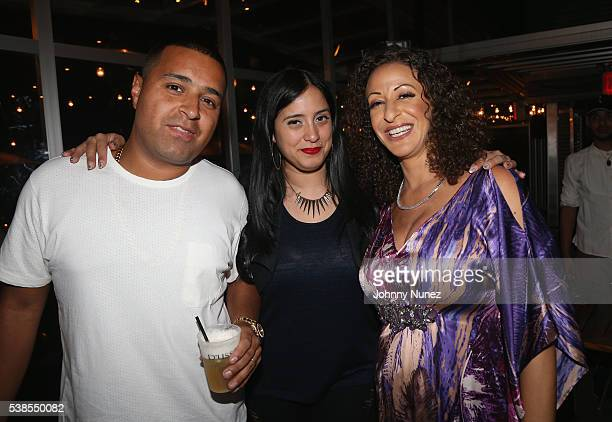 Camilo Laura Stylez and Nicole Khaled attend Haute Living Celebrates DJ Khaled And Nicole Khaled Presented By JetSmarter on June 6 2016 in New York...
