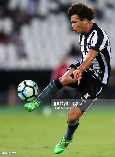 Camilo of Botafogo controls the ball during a match between Botafogo and Ponta Preta part of Brasileirao Series A 2017 at Nilton Santos Olympic...