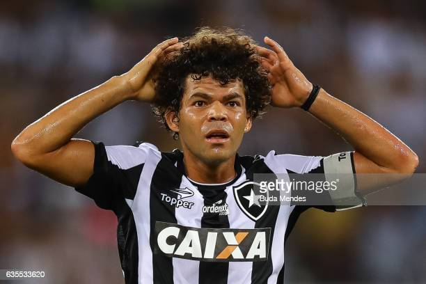 Camilo of Botafogo reacts during a match between Botafogo and Olimpia as part of Copa Bridgestone Libertadores at Engenhao Stadium on February 15...