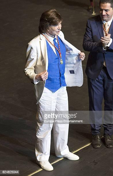 Camilo Sesto has been named Favorite Son of Alcoy village, his home town on November 18, 2016 in Alcoy, Spain.
