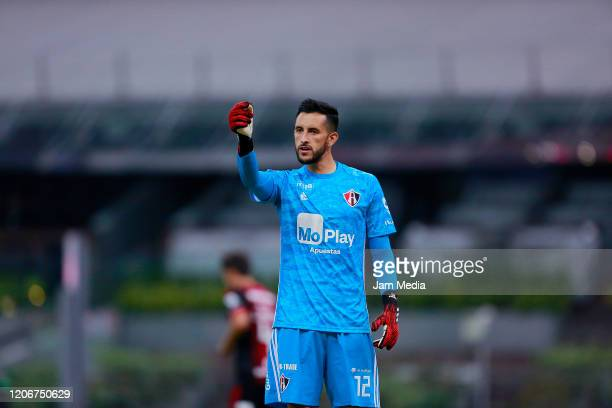 Camilo Vargas goalkeeper of Atlas during the 6th round match between America and Atlas as part of the Torneo Clausura 2020 Liga MX at Azteca Stadium...
