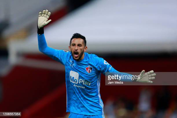Camilo Vargas goalkeeper of Atlas reacts during the 6th round match between America and Atlas as part of the Torneo Clausura 2020 Liga MX at Azteca...
