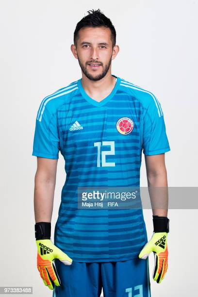 Camilo Vargas of Colombia poses for a portrait during the official FIFA World Cup 2018 portrait session at Kazan Ski Resort on June 13 2018 in Kazan...