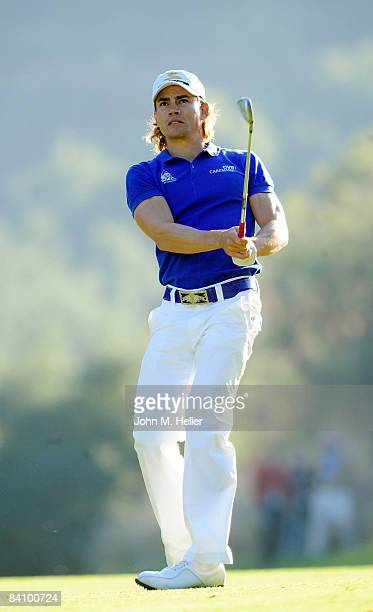 Camilo Villegas in action during the third round of play at the 2008 Chevron World Challenge Presented by Bank of America on December 20, 2008 at...