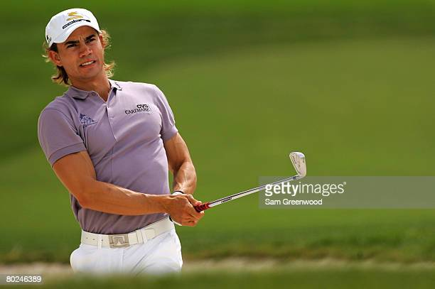 Camilo Villegas of Columbia plays the 2nd hole during the third round of the Honda Classic at PGA National Resort and Spa on March 1 2008 in Palm...