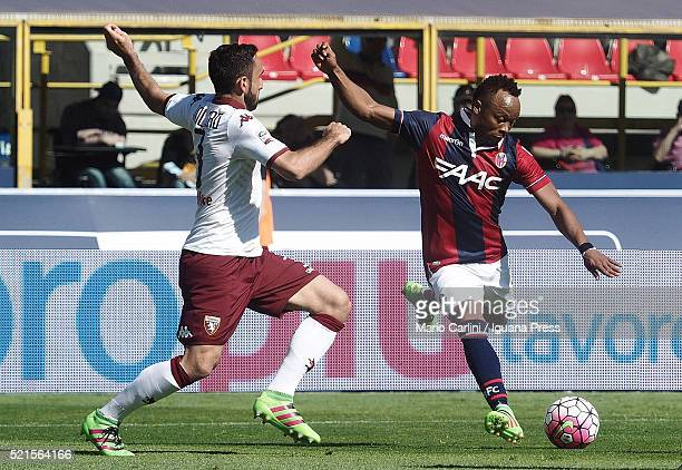 Camilo Zuniga of Bologna FC in action during the Serie A match between Bologna FC and Torino FC at Stadio Renato Dall'Ara on April 16 2016 in Bologna...