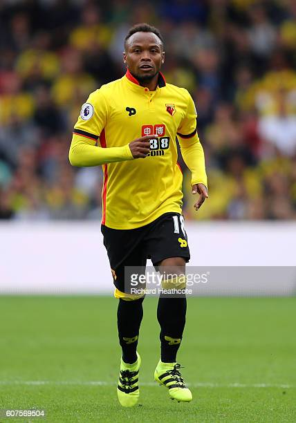 Camilo Zuniga of Watford in action during the Premier League match between Watford and Manchester United at Vicarage Road on September 18 2016 in...