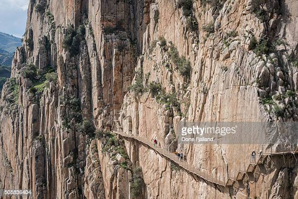 caminito del rey - dorte fjalland stock pictures, royalty-free photos & images