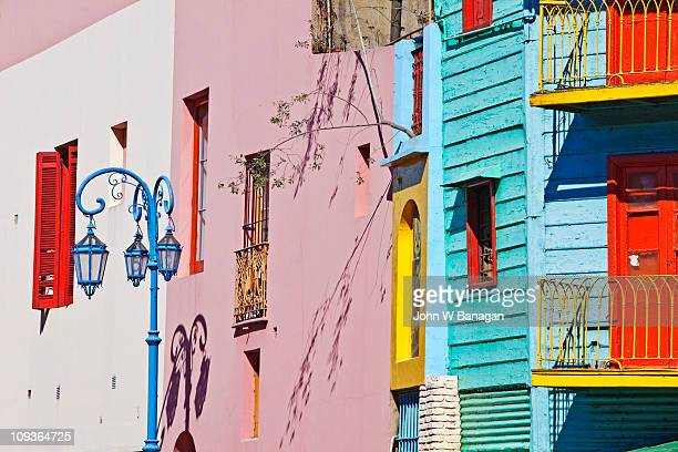 caminito, la boca, buenos aires, argentina - buenos aires stock pictures, royalty-free photos & images