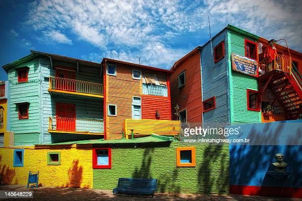 caminito street - argentina stock pictures, royalty-free photos & images