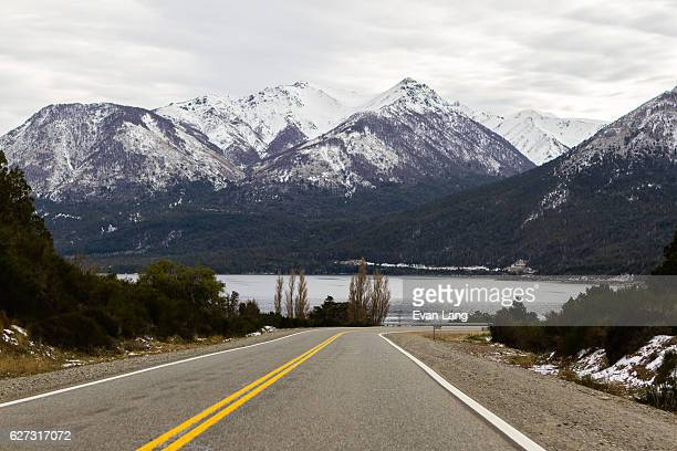 camino de los siete lagos, argentina - siete stock pictures, royalty-free photos & images