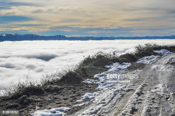 camino de montaña, bariloche, argentina - radicella stock pictures, royalty-free photos & images