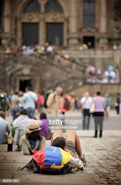 camino de santiago - cattedrale di san giacomo a santiago di compostela foto e immagini stock