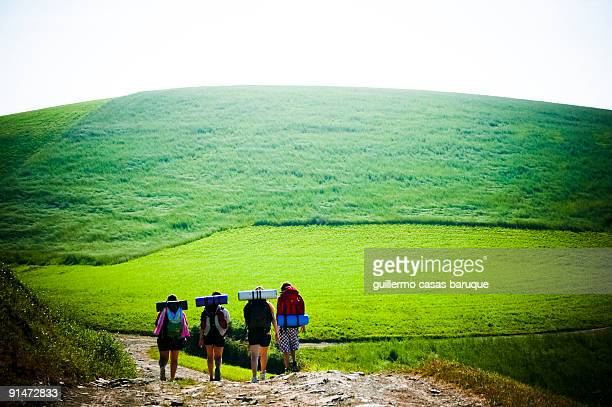 camino de santiago - pilgrimage stock pictures, royalty-free photos & images