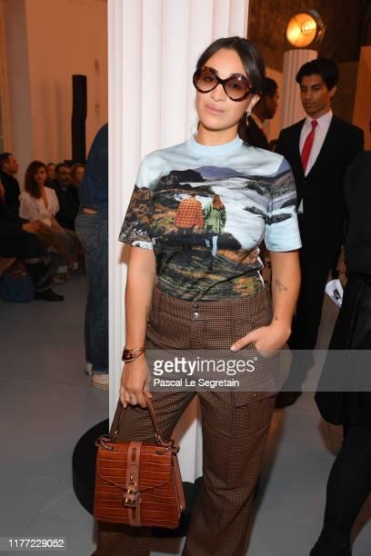 Camélia Jordana attends the Chloe Womenswear Spring/Summer 2020 show as part of Paris Fashion Week on September 26, 2019 in Paris, France.