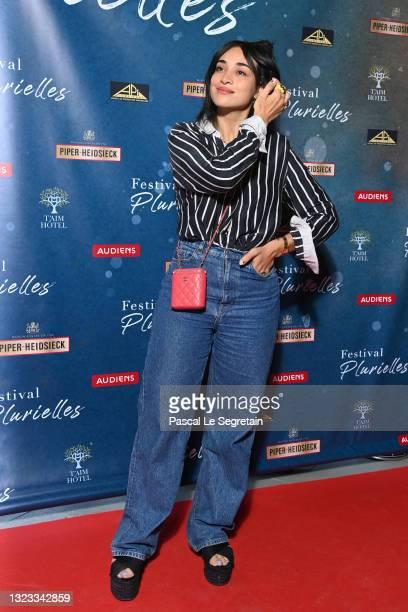 Camélia Jordana attends the Plurièlles Festival - Day Three At Cinema Majestic on June 13, 2021 in Compiègne, France.
