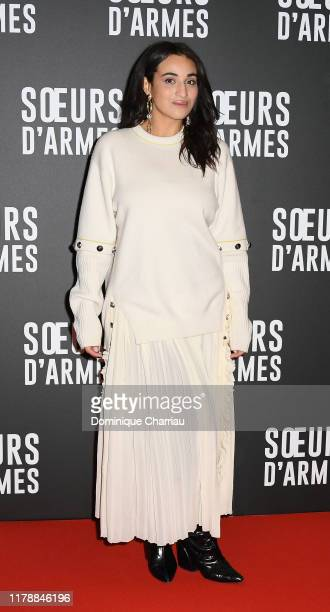 Camélia Jordana Soeurs D'Armes Premiere at Mk2 Bibliotheque on October 03 2019 in Paris France