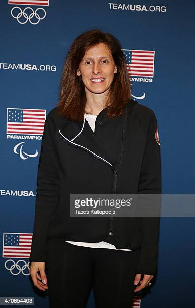 Cammi Granato at the USOC's Team USA Club event to celebrate the 2014 Winter Olympic Games at ROOF on TheWit on February 20 2014 in Chicago Illinois