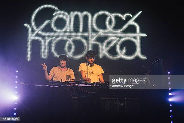Camo Krooked perform on stage at the O2 Academy at Tramlines Festival on July 24 2015 in Sheffield United Kingdom