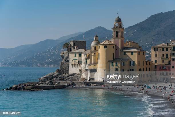 camogli, italian riviera, liguria, italy - liguria stock photos and pictures