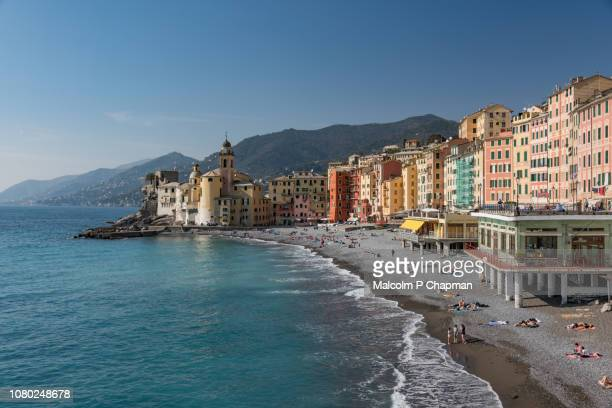 camogli, italian riviera, liguria, italy - portofino stock pictures, royalty-free photos & images