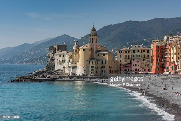 camogli, italian riviera, liguria, italy. - portofino stock pictures, royalty-free photos & images
