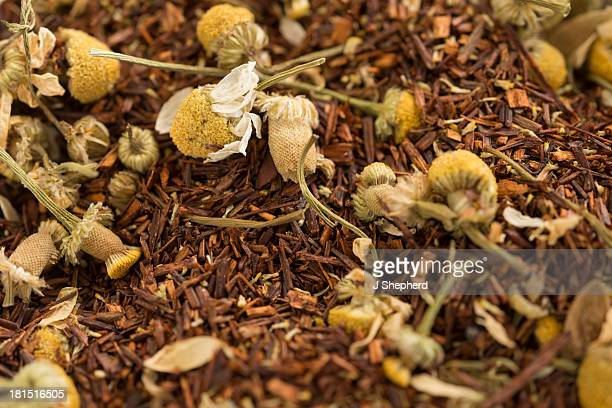 Camomile rooibos tea leaves