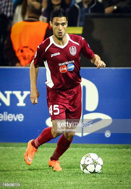 Camora of CFR 1907 Cluj in action during the UEFA Champions League group stage match between CFR 1907 Cluj and Manchester United FC on October 2 2012...