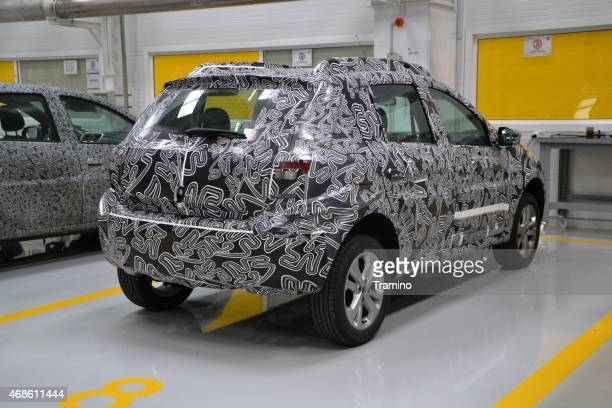 Camouflage car on the tests