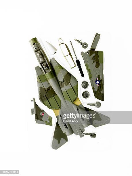 Camouflage toy airplane