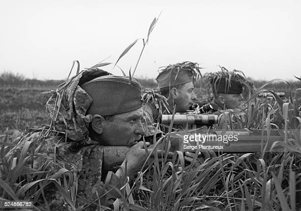 Camouflaged Russian soldiers Russian Front WWII