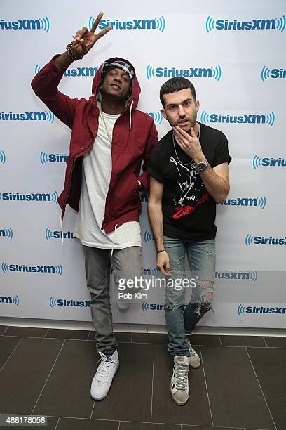 Camp and DJ ATrak visit at SiriusXM Studios on September 1 2015 in New York City
