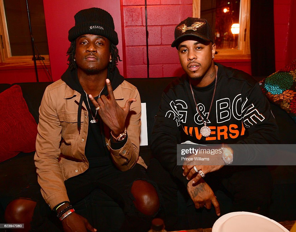 K Camp and Jeremih Backstage at the PartyNextDoor and Jeremih: Summer's Over Tour at The Tabernacle on November 14, 2016 in Atlanta, Georgia..